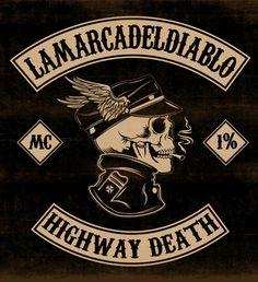 HIGHWAY DEATH - LA MARCA DEL DIABLO by Maleficio Rodriguez, via Behance