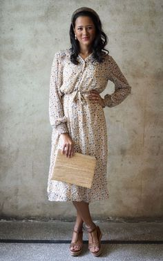 Prepair - Mary - Beige - The Nest Shop High Neck Dress, Dresses With Sleeves, Beige, Long Sleeve, Nest, Mary, Shopping, Fashion, Gowns With Sleeves