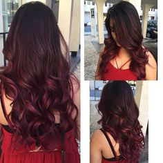 Best Balayage Hair Color Ideas for 2018 Red/Violet Balayage! Black Hair Ombre, Ombre Hair Color, Hair Color Balayage, Black Balayage, Hair Colors, Red Violet Hair, Balayage Straight, Hair Color Highlights, Violet Highlights