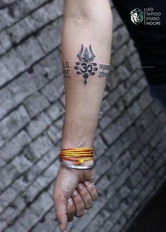 Address : 32/2 B.K. Sindhi colony, R.S. chat wali gali, above sweety fashion, Indore Contact:- 9584228615, 7000924824 Trishul, Leo Tattoos, Indore, Tattoo Studio, Mantra Tattoo, Arm Band Tattoo, Triangle, Fashion, Moda