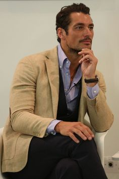 Mr. David Gandy wears just about any suit well. Take a cue for mens fashion from this guy