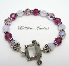 Swarovski Purple Crystal Bracelet with by Bellissima Jewelers, $69.00