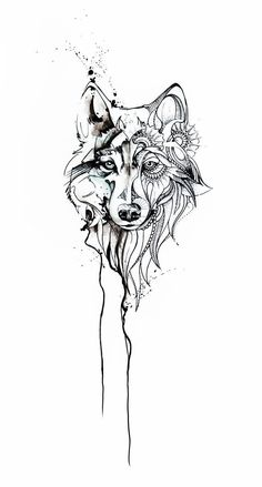 Only Left Side Darker, Messier And The Right Side Color I want this! Only left side darker, messier and the right side color Tattoos And Body Art wolf tattoo Wolf Tattoos, Lion Tattoo, Tatoos, Gray Tattoo, Fish Tattoos, Wolf Tattoo Design, Tattoo Designs, Wolf Design, Sleeve Tattoos