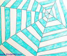 How to Draw a Spider Web Pattern Drawing: Drawing Lessons for Kids: KinderArt ®