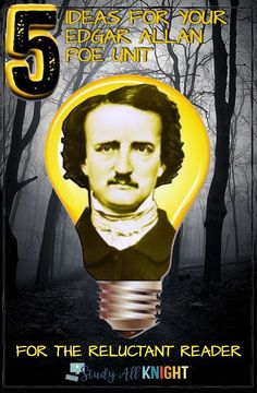 Ideas for teaching an Edgar Allan Poe Unit in middle school ELA and high school English. This blog post has 5 hands on, collaborative, engaging, and effective classroom activities that reluctant readers will find appealing. These ideas for teaching Edgar Allan Poe can be used any time of the year! #edgarallanpoe #middleschoolela #iteach678 #highschoolenglish Writing Activities, Classroom Activities, Great Poems, Literary Elements, British Literature, Reluctant Readers, Middle School Ela, American Gothic, High School English