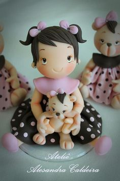 adorable fondant baby girl