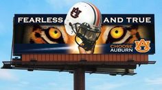 Billboard in Atlanta Football War, Auburn Football, Auburn Tigers, College Football, Sports Fanatics, Auburn University, Outdoor Signs, Mississippi State, Alma Mater