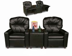 This cracks me up.  I picture a little Joey and Chandler in this.  :) Child Recliner Chair Theater Seating
