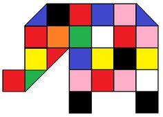 Elmer leggen met vouwblaadjes 1 Elmer The Elephants, First Grade Art, School Themes, Lectures, Barn Quilts, Creative Thinking, Summer Crafts, Color Themes, Art School