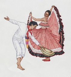 Man and woman dancing Cumbia Maria West Side Story, Dancing Clipart, Colombian Culture, Peruvian Art, Mexican Heritage, Art Drawings Sketches Simple, Lovers Art, Pop Art, Aurora Sleeping Beauty
