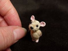 OOAK (One Of A Kind) Minatures & Dolls House Creations TreasuredByU Clay Sculpt Mouse