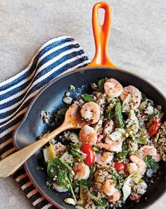 Awesome.  No Parm or basil need. Shrimp And Artichoke Quinoa Bowls