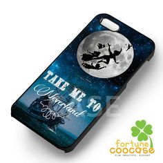 Disney peter pan silhouette on the full moon -srwe for iPhone 6S case, iPhone 5s case, iPhone 6 case, iPhone 4S, Samsung S6 Edge