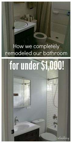 Bathroom Remodel For Under 1000 Inexpensive Makeovers On A Budget