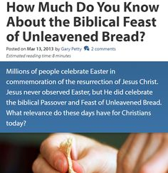 They follow the Lamb wherever He goes: How Much Do You Know About the Biblical Feast of U...
