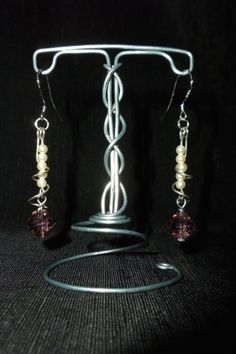 Elegant Dangle Earrings / Handmade w/ sterling by WiredFlutterby