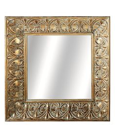 Loving this Gold Patina Fleur-de-Lis Framed Wall Mirror on #zulily! #zulilyfinds