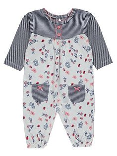 Floral All in One , read reviews and buy online at George at ASDA. Shop from our latest range in Baby. A pretty option for their mini wardrobe, this all-in-o...