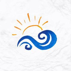 Find Vector Watercolor Logo Sun Wave Water stock images in HD and millions of other royalty-free stock photos, illustrations and vectors in the Shutterstock collection. Sun Tattoos, Small Tattoos, Logo Familia, Sol Tribal, Wave Drawing, Beach Logo, Watercolor Wave, Logos, Waves Logo