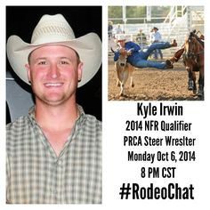 LIVE Tweet-Chat with 2014 NFR Qualifier Kyle Irwin Monday night (Oct. 6th) 8 PM CST! Click the link below to join: www.twitter.com/rodeochat