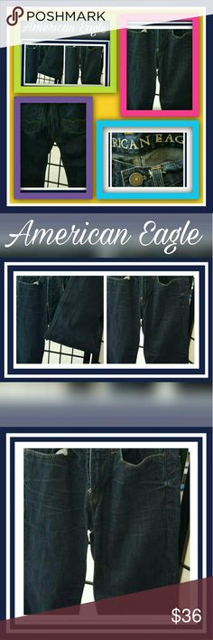 """AMERICAN EAGLE RELAXED JEANS AMERICAN EAGLE RELAXED JEANS  NO STRETCH FOR A CLASSIC FIT. 100% COTTON JEANS MADE WITH THE SOFTEST DENIM. SITS LOW ON THE WAIST. RELAXED THROUGH THE THIGH. APPROXIMATELY 17"""" OPENING FOR A RELAXED FIT. IMPORTED. 100% COTTON  MACHINE WASHABLE.  EUC...LIKE NEW.. American Eagle Outfitters Jeans Relaxed"""