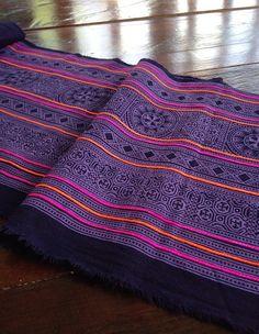 Vintage Hmong Tribal Batik Textile Ethnic by KutchiKooTribe, $33.00