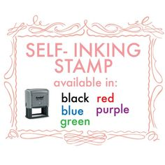 Custom calligraphy SELFINKING address stamp di trialbycupcakes, $45.00