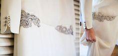 detalle bordados cintura vestido de novia