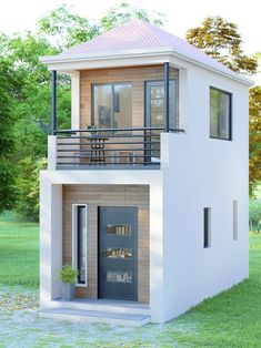 Tiny House Loft, Tiny House Design, Open Space Living, Living Spaces, The Sims, Sims 4, 1 Bedroom House, House With Balcony, Tiny House Nation