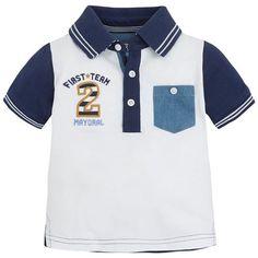 Mayoral Yazlık Erkek Bebek Kısa Kol T-shirt Beyaz
