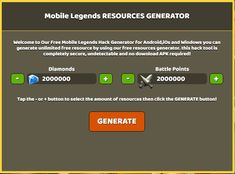 Mobile Legends Hack No Human Verification No Survey? Mobile Legends Hack Tools — No Verification — Unlimited Diamonds (Android and Ios) Mobile Legends Hack Cheats! Legend Mobile, Xbox One, Mobile Generator, Episode Choose Your Story, Point Hacks, Play Hacks, Fifa 20, Game Resources, Hack Online