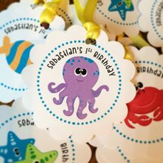 Under the Sea Favor Tags by Eleven Eleven Pixel