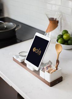 Kitchen Standing iPad Mockup