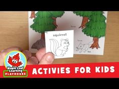 Forest Animal Activity for Kids   Maple Leaf Learning Playhouse - YouTube