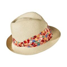 Fedora Hat With Floral Band - Natural 738f7350436