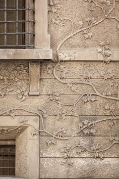 Beautiful Art Nouveau exterior wall detail in the city of Reggio nell'Emilia, Italy. Photo by Alessandro Guerani
