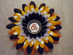 MLB Baltimore Orioles Baseball Inspired Bottle Cap by SweetieBeads, $5.00