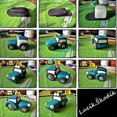 Výsledek obrázku pro fondant tractor tutorial cake for you Cake Topper Tutorial, Fondant Tutorial, Beetroot Chocolate Cake, Tractors For Kids, Farm Animal Cakes, Bithday Cake, Foundant, Farm Cake, Cake Pictures