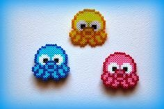 Octopus hama beads by  ArtesanDroides
