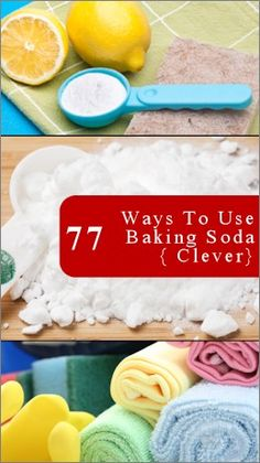 Everyone should know about these 77 ways to use baking soda. - Click image to find more DIY & Crafts Pinterest pins