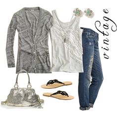 """""""space-dyed and tissue ruffle"""" by carrie2 on Polyvore"""