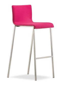"""""""Kuadra Upholstered Counter Bar Stool""""  A counter stool with fully upholstered shell covered in a wide range of fabrics with  a 20x20mm square tube frame.  Please contact us for pricing (718)363-3097."""