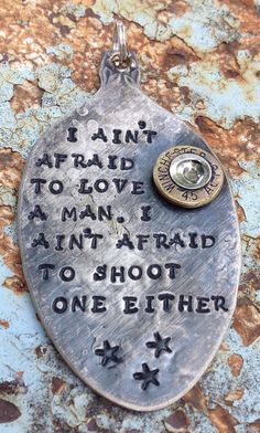 STaMPeD ViNTaGe uPCyCLeD SpooN JeWeLRy by JuLieSJuNQueTiQue, $16.50 LOVE this quote!