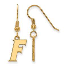 Sterling Silver w/GP LogoArt University of Florida Small Dangle Earrings