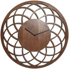 NeXtime Big Wooden Dreamcatcher Wall Clock (530 BRL) ❤ liked on Polyvore featuring home, home decor, clocks, interior, wooden clock, wooden wall clock, wooden home decor, nextime wall clock and wood wall clock