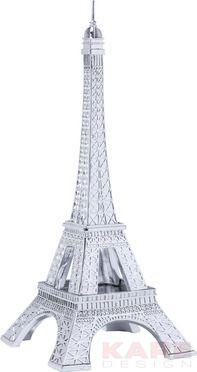 Deco Figurine Eiffel Tower Chrome