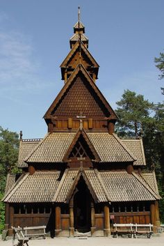 Stavkirke Church in Oslo - Norway