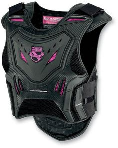 Special Offers - Icon Stryker Vest Womens Field Armor Street Motorcycle Body Armor Black/Pink / Small/Medium - In stock & Free Shipping. You can save more money! Check It (April 02 2016 at 07:40PM) >> http://bestsportbikejacket.com/icon-stryker-vest-womens-field-armor-street-motorcycle-body-armor-blackpink-smallmedium/