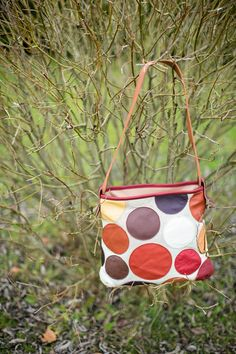 Midsize leathercanvas handbag with funky design by LHdesignIE, €89.00