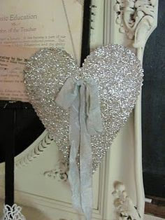 Glittered heart made by sweet Madai!